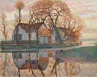 Piet Mondriaan - Farm near Duivendrecht, c. 1916