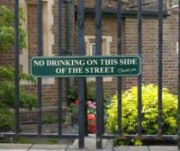 Yes, just drink on this side of the street with the rest of all normal people!