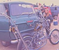 Ford Thames van & old-school chopper