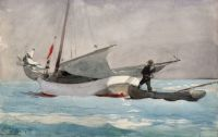 Winslow Homer--Stowing Sail, 1903