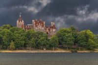 Boldt Castle with Clouds