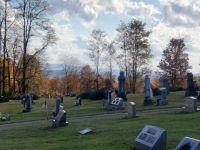 Pennsylvania graveyard in autumn