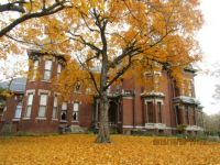 old mansion in the fall