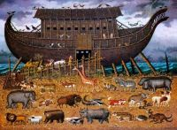 Charles Wysocki - Noah and Friends (smaller for @debbd)