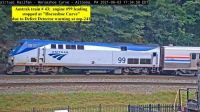 Amtrak train 43, stopped at HSC