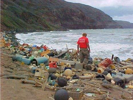 Theme: Green Living - Ocean Debris Washed Up on Hawaiian Island