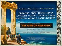 THE GUNS OF NAVARONE - 1961 POSTER GREGORY PECK, DAVID NIVEN,ANTHONY QUINN