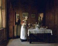 Claude Joseph Bail (1862 - 1921) - Dinner Preparations