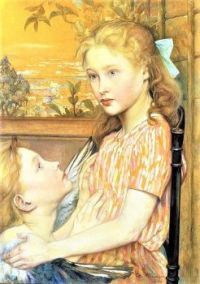 """Young Girl and her Guardian Angel"""", 1894"""