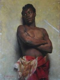 Osmar Schindler (1867-1927) - Portrait of an African man 1885.