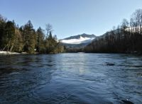 Floating on the Skagit River looking at eagles and scenery