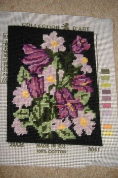 Tapestry Picture - Floral - Purple Harebells
