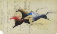 Blue Head ~ Ledger art by Donald Montileaux (Oglala Lakota)