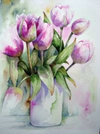 Tulips Pink Vase of