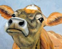 """""""Curious Jersey Cow"""""""