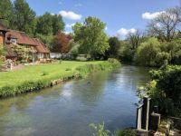 The River Test at Longparish, Hampshire, UK