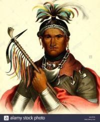 color-illustration-of-a-senecan-chief-known-as-ki-on-twog-ky-aka-1825-M1HFXR