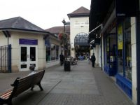 winkelstraat in Chippenham UK