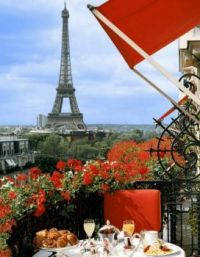 Breakfast with a view: Paris, France