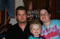 My grandson Logan and his mommy and daddy (Jason & Lisa)