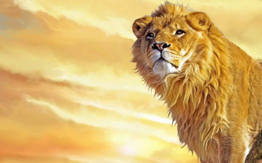 beautiful-lion-painting