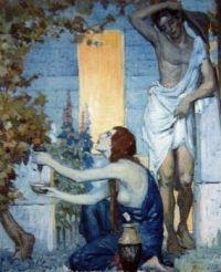 Napier Waller Preparing the grape juice for Ulyssses