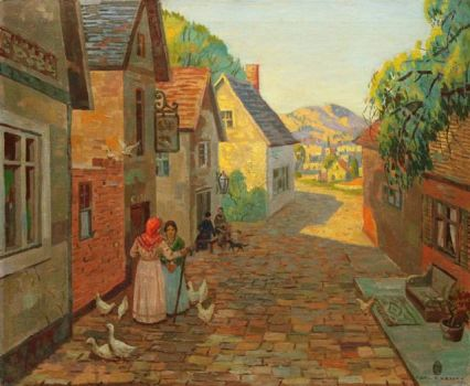 The Village End by Carl Rudolph Krafft