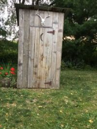 Summer outhouse!