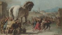 Giovanni Domenico Tiepolo--The Procession of the Trojan Horse into Troy about 1760