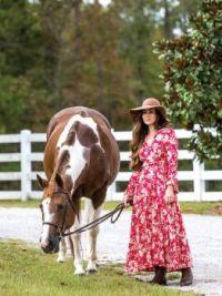 Pretty dress to go riding in