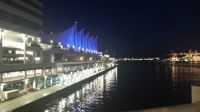Canada Place, Vancouver BC night view