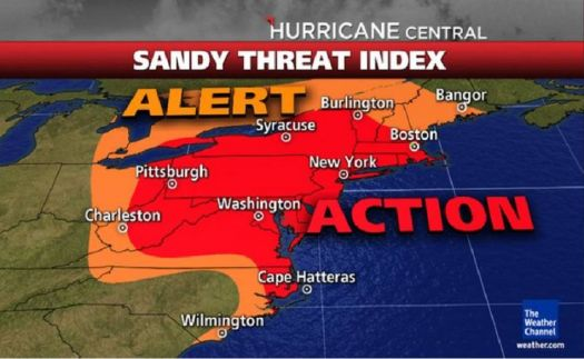 THEME ~ Weather  -  Hurrican Sandy (I'm close to Boston, the green dot just north west of it)