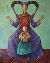 Training the Princess, oil canvas, 2014 by Zaya