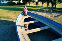 Boating on the playground