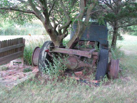Nature reclaims truck