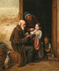 Ferdinand Georg Waldmüller - The Charitable Gift