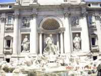 Rome, Trevi Fountain-4, July 2007 Italy trip