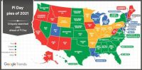 Favorite USA Pie Survey results by state 2021
