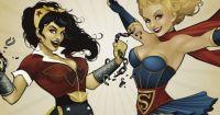 DC Bombshells Wonder Wonder and Supergirl