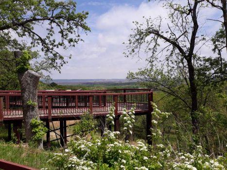Overlook at Indian Cave State Park Nebraska.