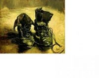 Vincent Van Gogh painting of old boots