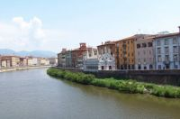 The Arno River Pisa Italy