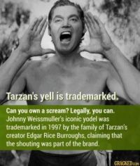 16 Random Facts That Will Increase Your Approximate Knowledge of the World - Tarzan's yodel