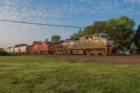 An NS westbound approaching Elkhart Indiana