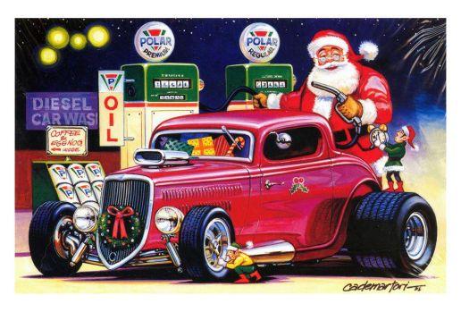 Santas got a hot rod