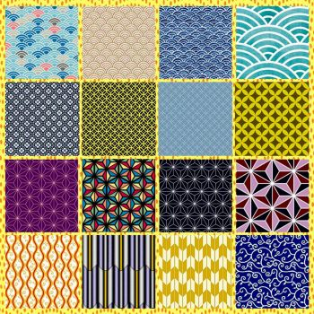 Traditional Japanese Patterns Collage Challenge