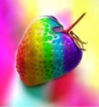 Colorful Strawberry 1