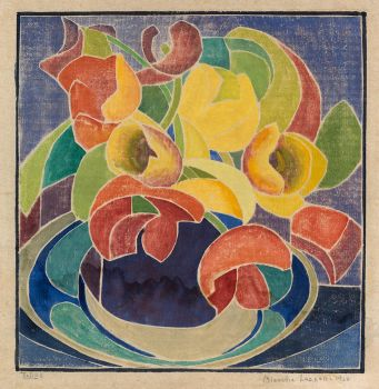 Blanche Lazzell (American, 1878–1956), Tulips (1920)