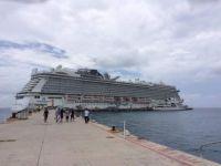 Norwegian Getaway docked in Cozumel Mexico