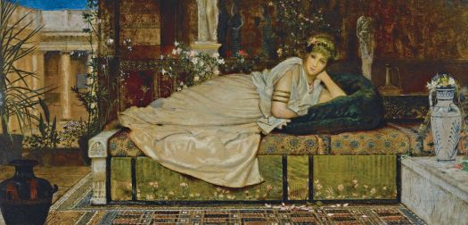 A Lady in a Classical Interior